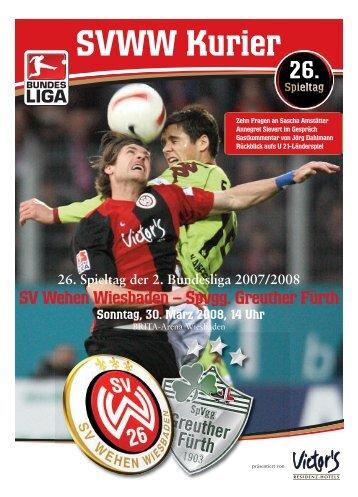 SVWW Kurier 26.Spieltag - Die offizielle Homepage des SV Wehen ...