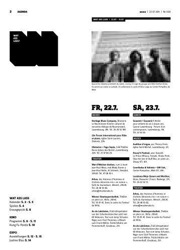 Fr, 22.7. Sa, 23.7. - Woxx