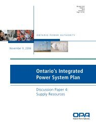 Ontario's Integrated Power System Plan - Feed-in Tariff Program ...