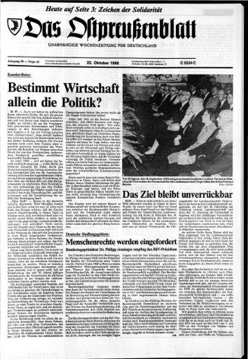 Folge 43 vom 22.10.1988 - Archiv Preussische Allgemeine Zeitung