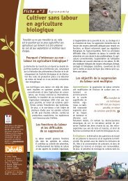Cultiver sans labour - GRAB, Groupe de Recherche en Agriculture ...