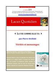 LQ 224 - Lacan Quotidien