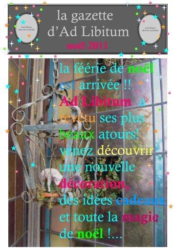 La Gazette d'Ad Libitum - Ad-libitum-ardeche.fr