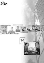la bohème - Association des étudiants de l'UTBM