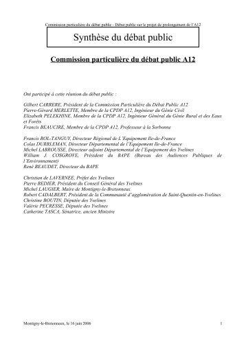 Verbatim au format PDF - Commission nationale du débat public