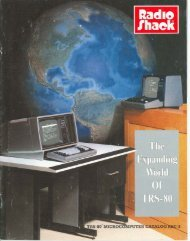The Expanding World of TRS-80, 1970