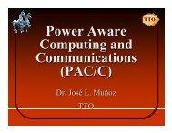 Power Aware Computing and Communications (PAC/C ... - Darpa