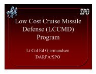 Low Cost Cruise Missile Defense (LCCMD) Program
