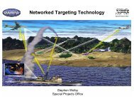 Networked Targeting Technology - Darpa