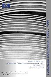 Collections thématiques 1995 - 1999 - the ECML | Bienvenue au ...