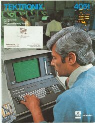 Tektronix 4051: New low-cost BASIC graphic computing system, 1976