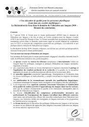 Déclaration de Graz – résumé des conclusions.pdf - the ECML ...