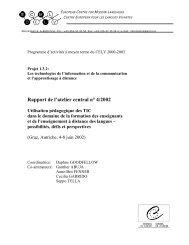 Rapport de l'atelier central n° 4/2002 - the ECML | Bienvenue au ...