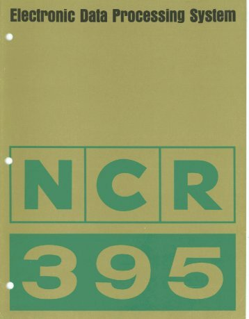Electronic Data Processing System NCR 395, 1968