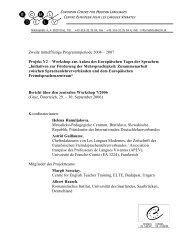 Bericht - European Centre for Modern Languages