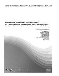 Introduction au contexte européen actuel de l'enseignement des ...