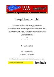 Universitäre Dissemination - European Centre for Modern Languages