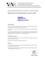 Centre européen pour les langues vivantes (CELV) - the ECML ...