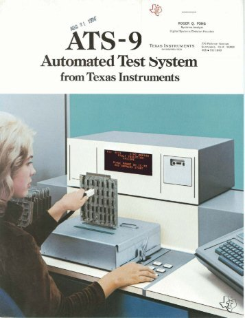 Texas Instuments ATS-960 Automated Test System, 1974