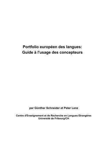 Guide à l'usage des concepteurs - Council of Europe