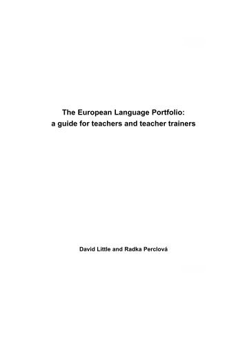 a guide for teachers and teacher trainers - Council of Europe