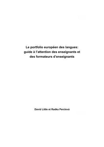 Le portfolio européen des langues - La pédagogie universitaire à l ...