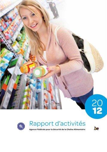 Rapport d'activités 2012 - Favv