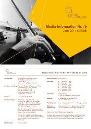 Media-Information Nr. 10 vom 30.11.2006 - Runze & Casper