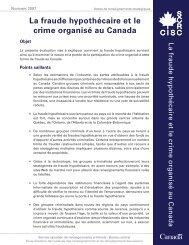 La fraude hypothécaire et le crime organisé au Canada - Service ...