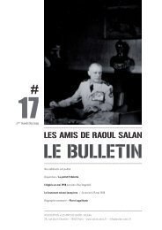 bulletin 17 / 2eme trimestre 2008 - Association des amis de Raoul ...