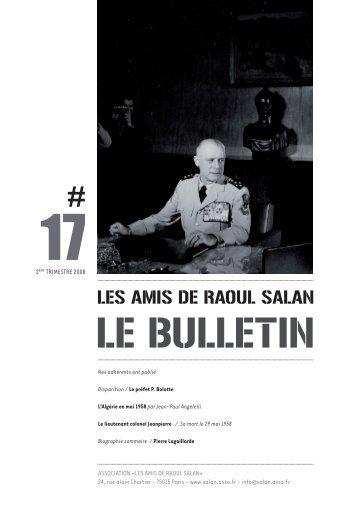 bulletin 17 / 2eme trimestre 2008 - Association des amis de Raoul ...