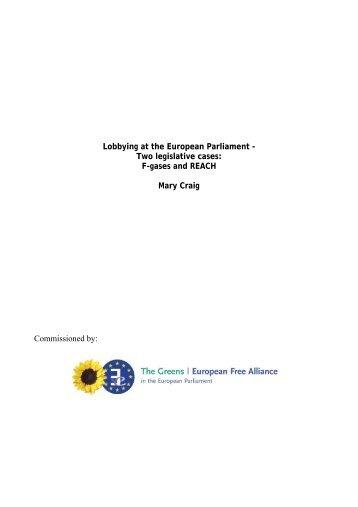 Lobbying at the European Parliament - Two legislative ... - The Greens