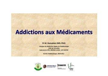 Addictions aux Médicaments - Pôle Santé de Grenoble