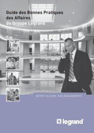Guide des Bonnes Pratiques des Affaires du Groupe Legrand