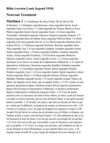 Nouveau Testament - Bible Studies Net
