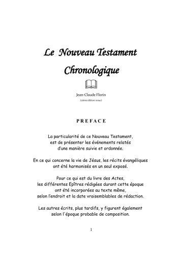 Le Nouveau Testament Chronologique ffl - HXPERT.com