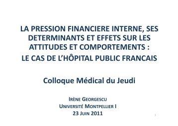 Copie de colloque médical jeudi Pressions - Colloque Médical du ...
