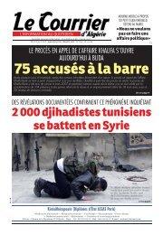 2 000 djihadistes tunisiens se battent en Syrie - Le Courrier d'Algérie