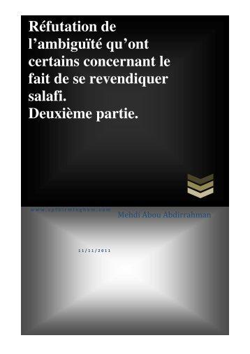 mise en garde contre des propos fallacieux... - Dourouss Abdelmalik