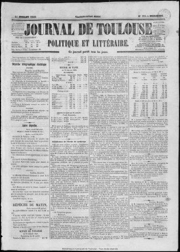 POLITIQUE ET LITTÉRAIRE. - Bibliothèque de Toulouse