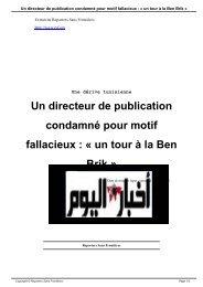 Un directeur de publication condamné pour motif fallacieux : « un ...