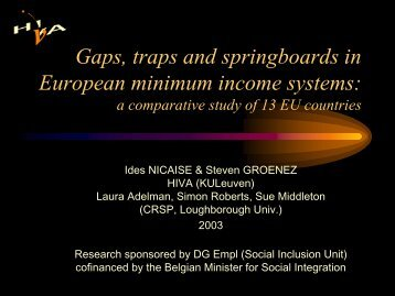 Gaps, traps and springboards in European minimum ... - The Greens