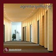 Agenturgeflüster - Ausgabe 01 / 2008 - wo-pro Werbung