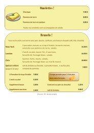Consultez notre carte et tarifs 2013 - Palm Café