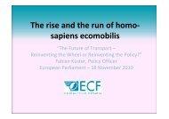 Future of Transport / Session I - ECF - Fabian Küster - The Greens