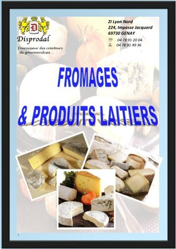 catalogue fromages & produits laitiers - Disprodal