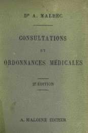 CONSULTATIONS ORDONNANCES MÉDICAL