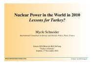 Nuclear Power in the World in 2010 Lessons for Turkey? - The Greens
