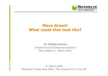 Dr. Wiebke Zimmer - The Greens