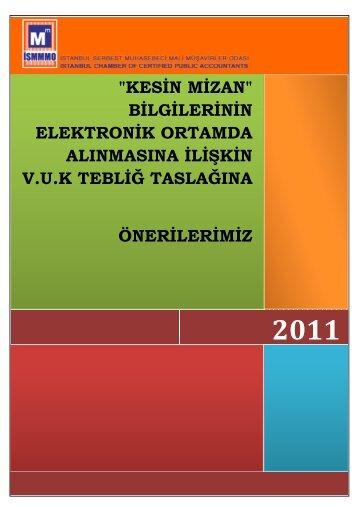 kesin mizan - İstanbul SMMM Odası